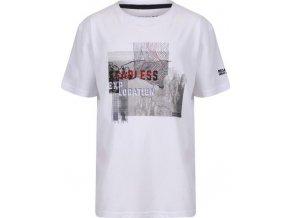 Biały t-shirt dziecięcy Regatta RKT091 Bosley II