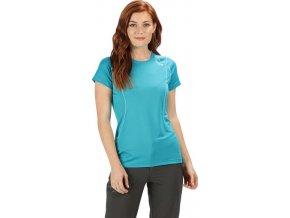 Niebieski t-shirt damski sportowy Regatta Virda III RWT181