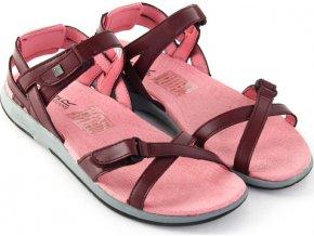 Sandały damskie RWF399 REGATTA Santa Cruz Bordowe