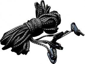83657 3 metrowe czarne odblaskowe liny do namiotow 4 sztuki