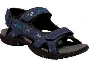 Granatowe sandały damskie na rzepy Regatta RWF331 Lady Haris