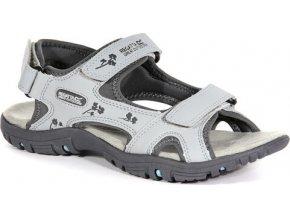 Szary sandały damskie na rzepy Regatta RWF331 Lady Haris