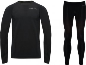 Męska bielizna termiczna Wool B/Layer Set Czarni kolor