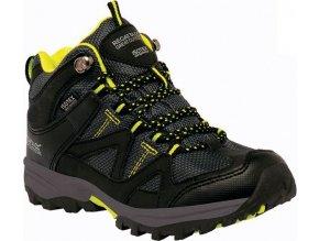 Dziecięce buty trekkingowe RKF470 REGATTA Gatlin Mid Czarny kolor