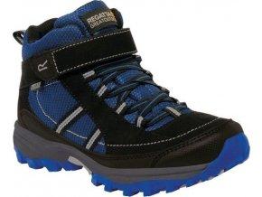 Niebieske buty turystyczne dziecięce RKF511 REGATTA Trailspace II Mid