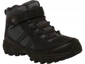 Czarne buty turystyczne dziecięce RKF511 REGATTA Trailspace II Mid