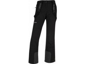 Damskie narciarske spodnie KILPI ELARE-W Czarne (DUŻY ROZMIAR)