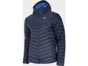 Pánská péřová bunda 4F KUMP003 Modrá