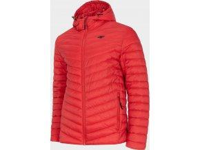 Pánská péřová bunda 4F KUMP003 Červená