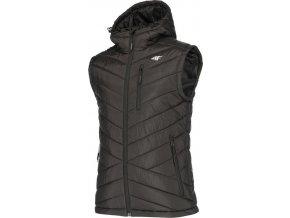 Pánská prošívaná vesta 4F KUMP001A Černá