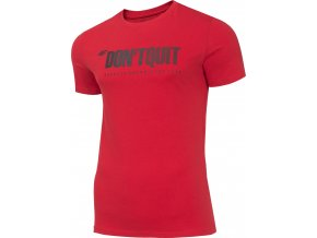 Pánské bavlněné tričko 4F TSM074 Červené