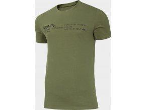 Pánské tričko 4F TSM250 Kkaki