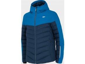 Pánská péřová bunda 4F KUMP205 Modrá