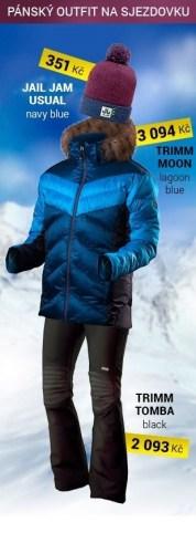 Outfit lyžařský pánský modrý
