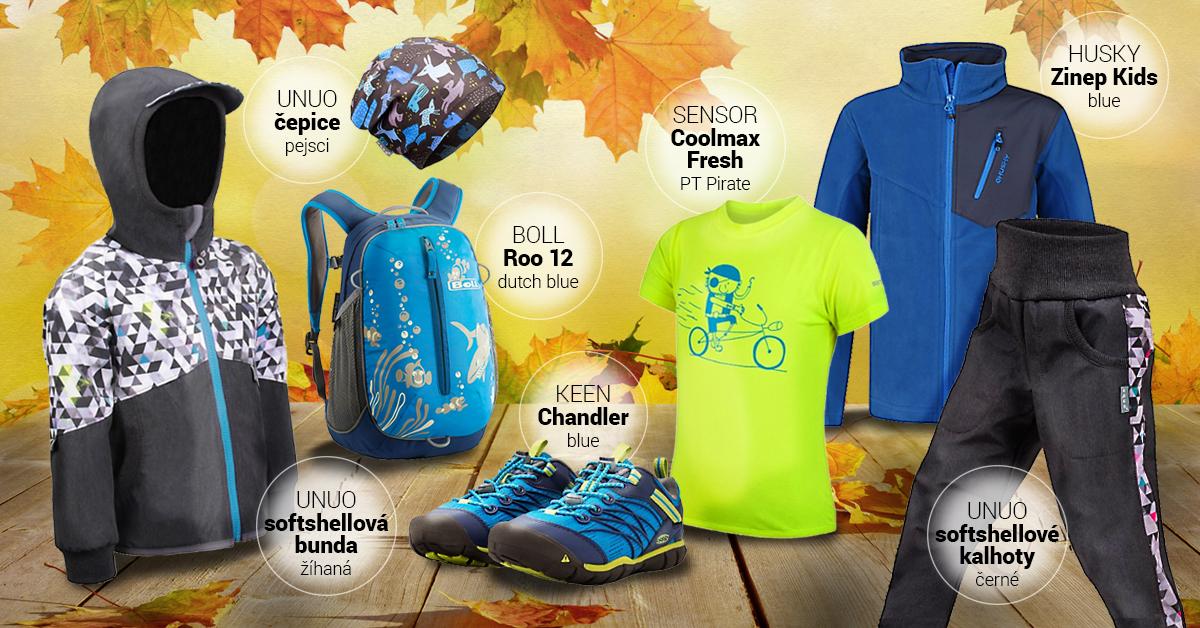 Chlapecký outfit podzimní modrý 2020