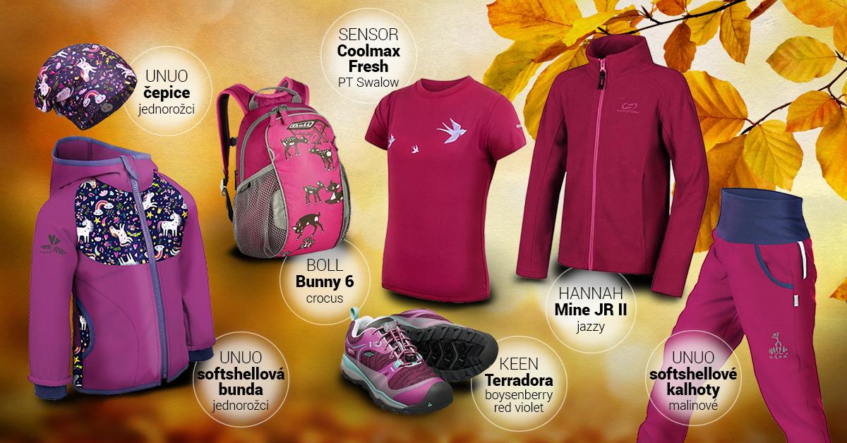 Dívčí podzimní outfit růžový 2020