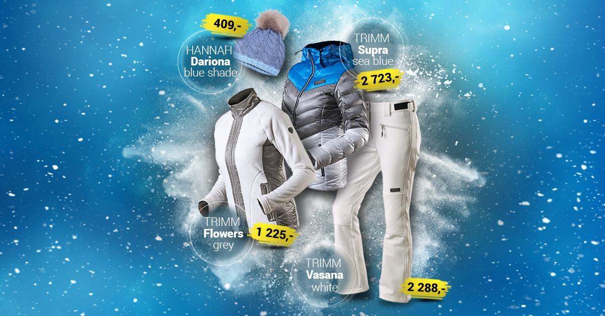 Dámský lyžařský outfit white-silver 2019/2020