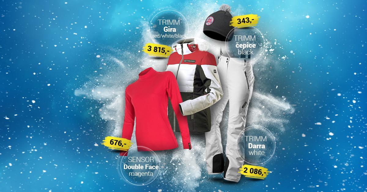 Dámský lyžařský outfit white-red 2019/2020
