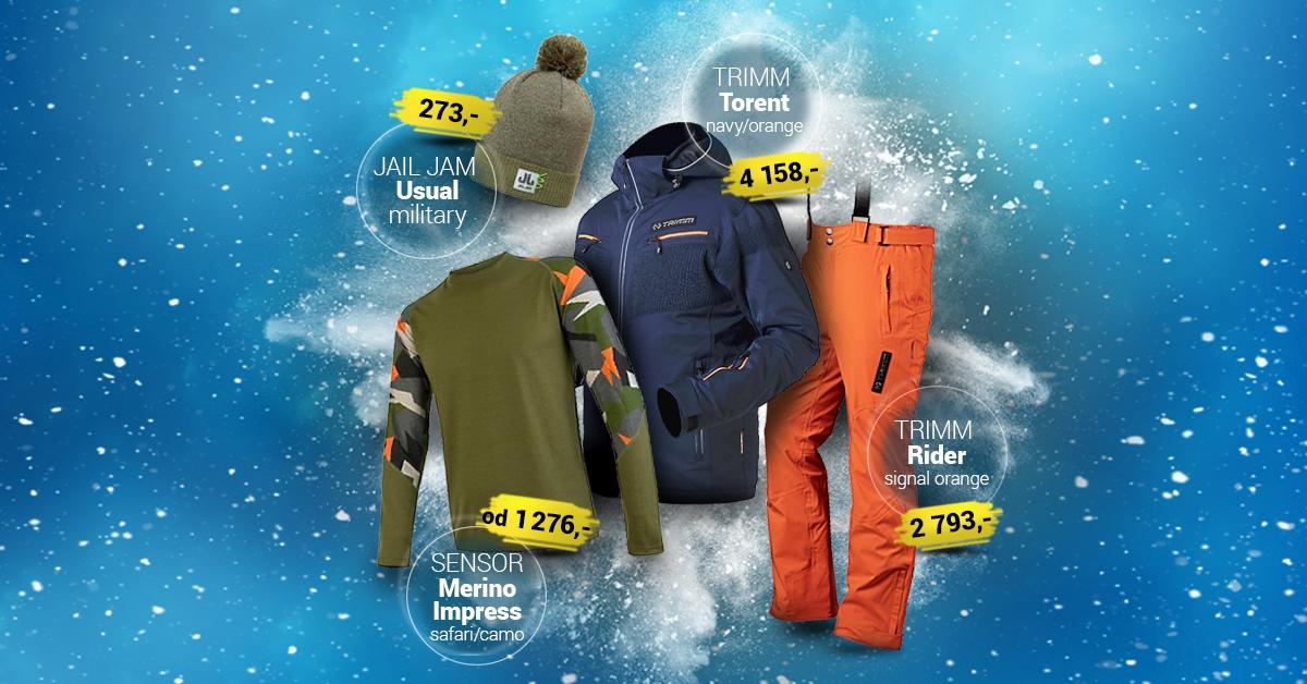 Pánský lyžařský outfit lagoon-orange 2019/2020