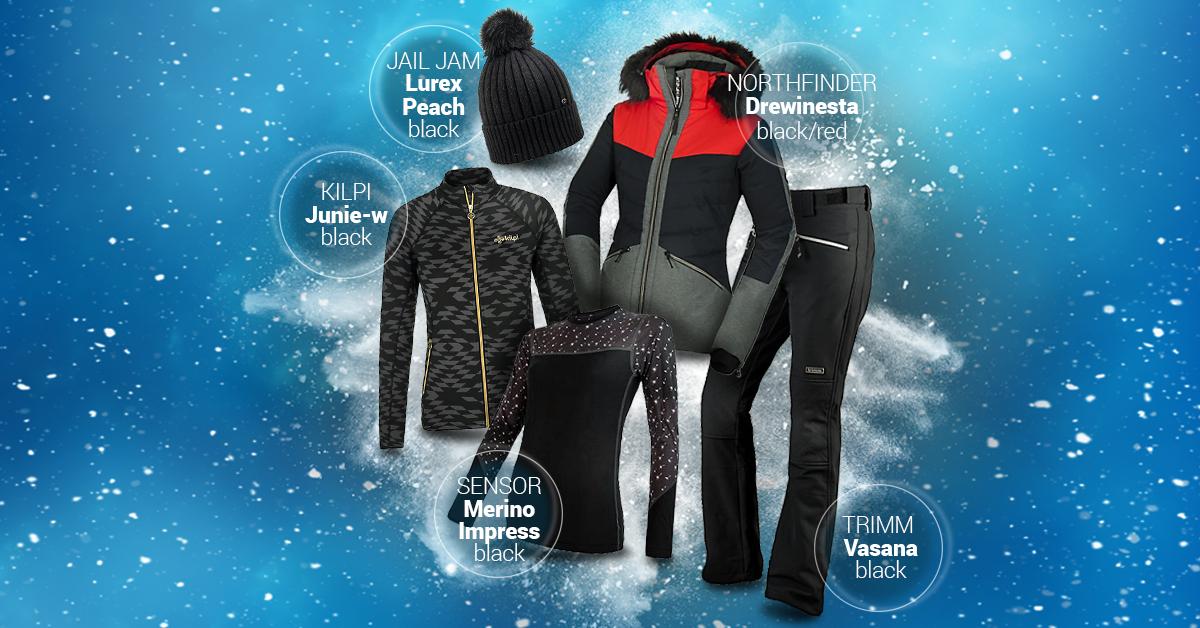 Dámský lyžařský outfit black/grey