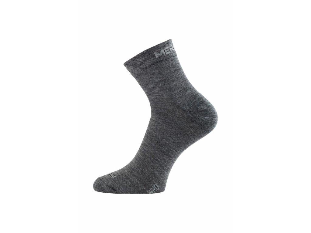 Lasting WHO 800 šedá merino ponožka