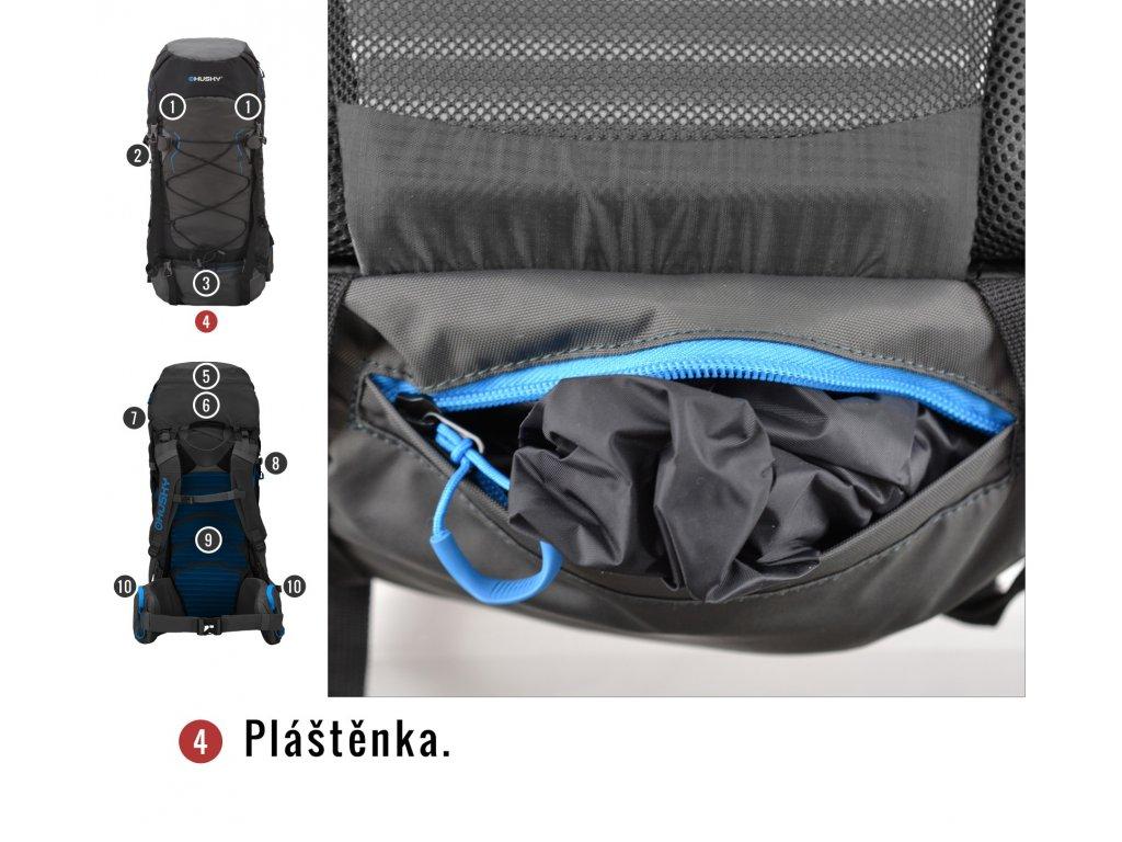 9cb81e7a71 Husky Batoh Ultralight Ribon 60l šedá - OutdoorMarket
