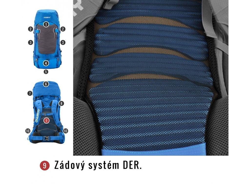 95a227208 Husky Batoh Ultralight Rony 50l modrá - OutdoorMarket