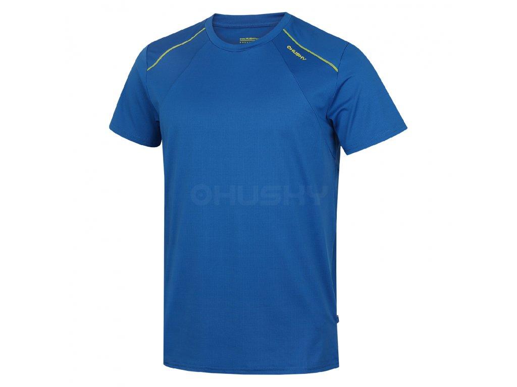 Husky Pánské triko Telly M modrá/zelená Velikost: L