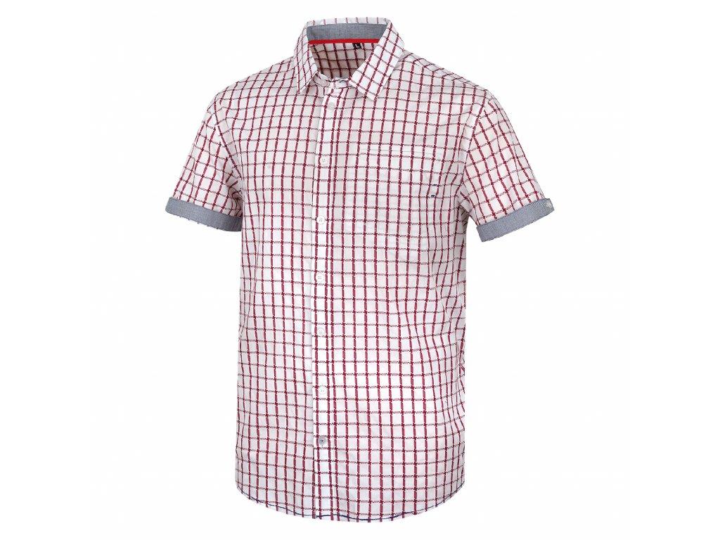 Husky Pánská košile Grimmy bílá/červená Velikost: M