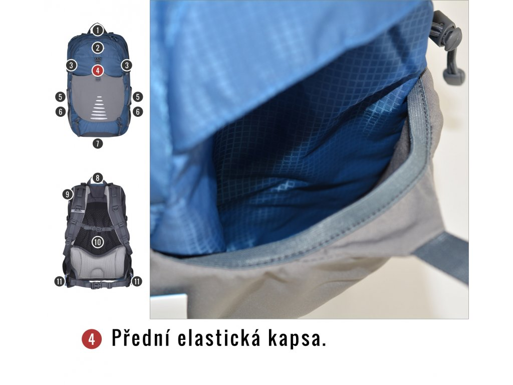 d72d53b76eb Husky Batoh Turistika   Cyklo Skid 30l modrá - OutdoorMarket