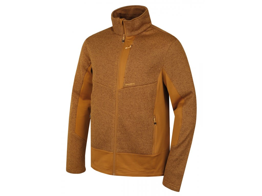 ed6061d886a7 Husky Pánská fleecová bunda Alan M tm. okrová - OutdoorMarket