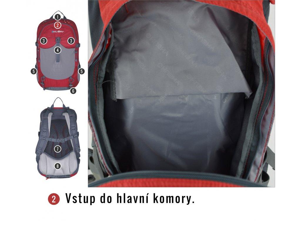 43016c37ef Husky Batoh Turistika   Cyklo Spiner 20l oranžová - OutdoorMarket