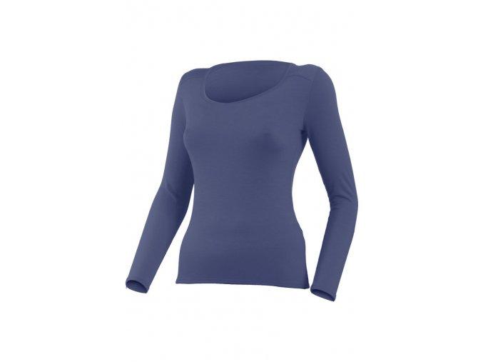 Lasting EVA 5656 modrá merino triko s výstřihem