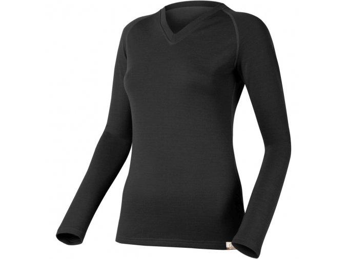 Lasting KELY 9090 černá vlněné Merino triko