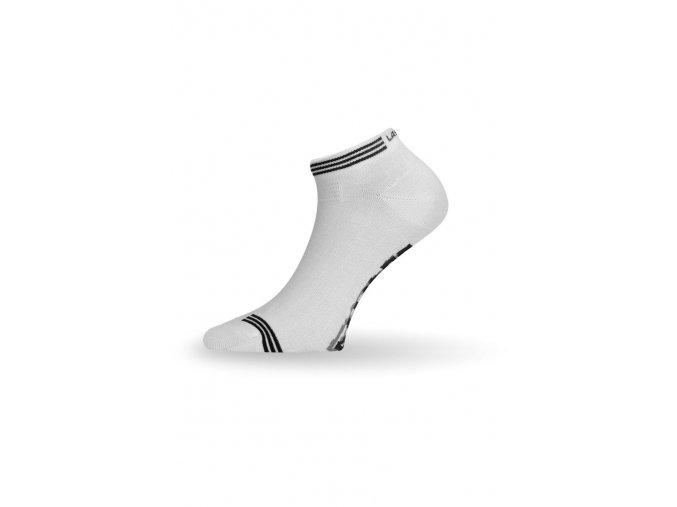 Lasting ABE bambusové ponožky 001 bílá  ponožky