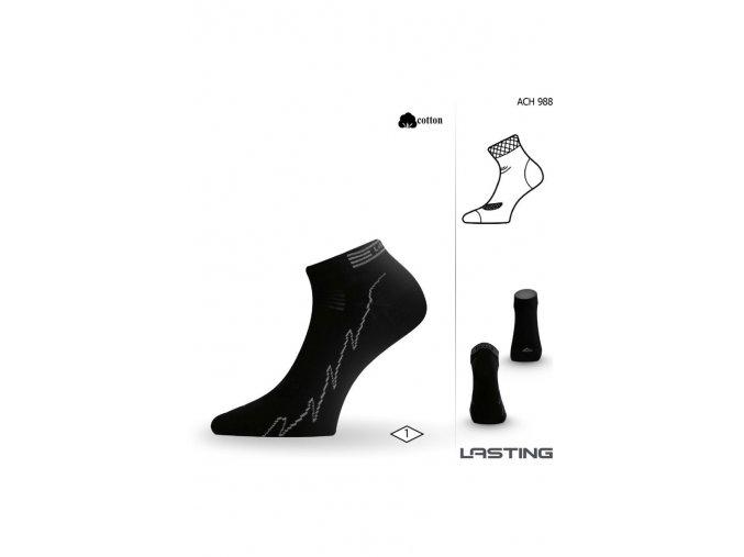 Lasting ACH 988 ponožky pro aktivní sport černá  ponožky