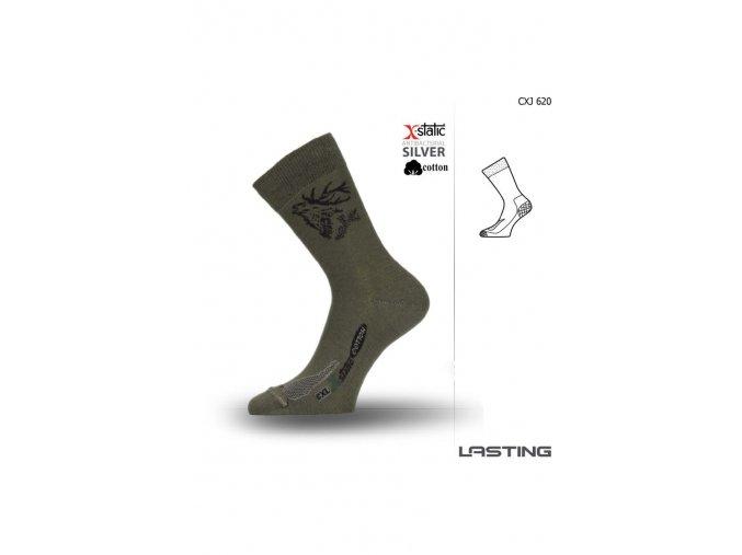 Lasting X-Static CXJ 620 zelená  ponožky