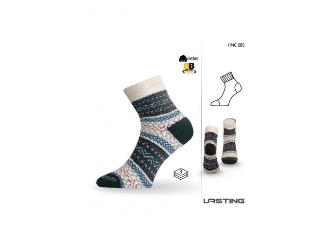 Lasting HMC 085 modrá silná ponožka  ponožky