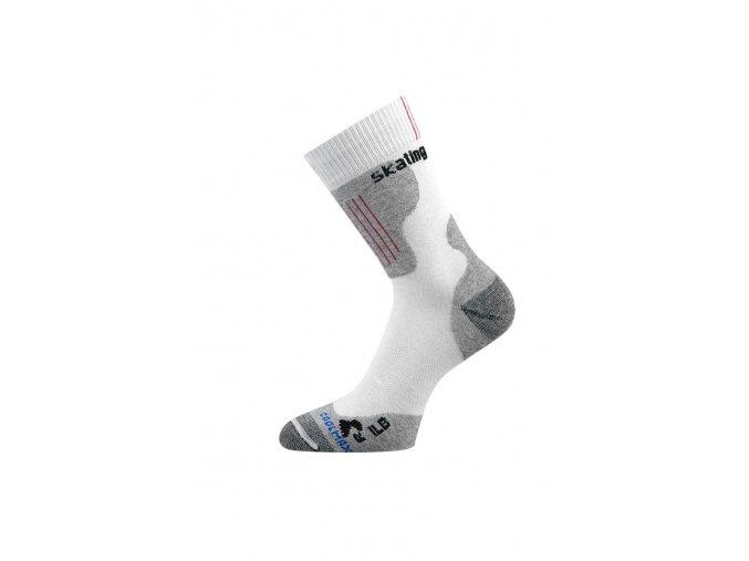Lasting ILB 001 bílá Inline ponožky  ponožky
