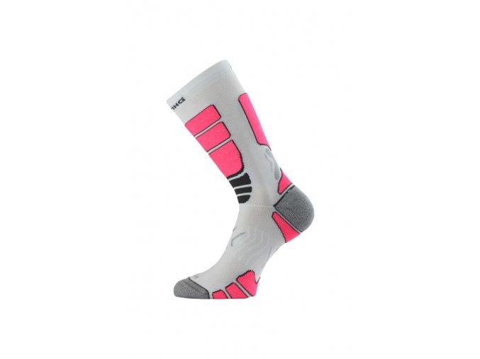 Lasting ILR 004 bílá Středně dlouhá inlinová ponožka  ponožky
