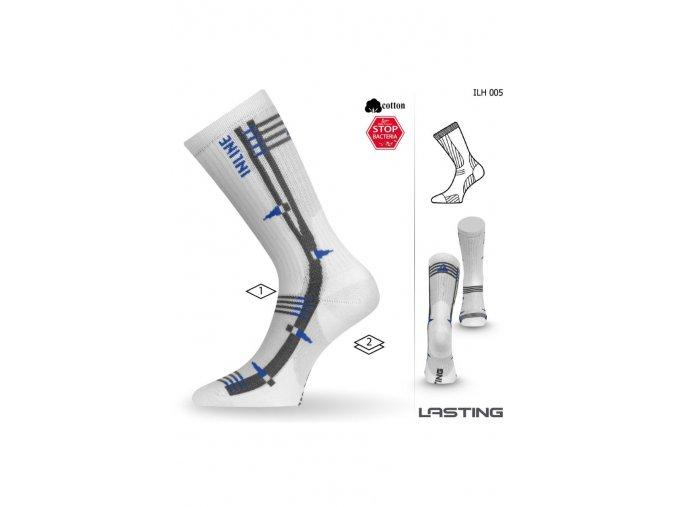Lasting ILH 005 bílá Inline ponožky  ponožky