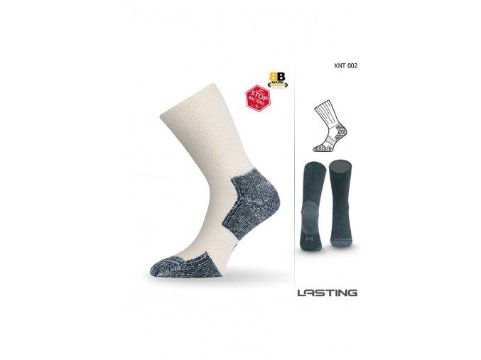 Lasting KNT 002 bílá funkční ponožky  ponožky