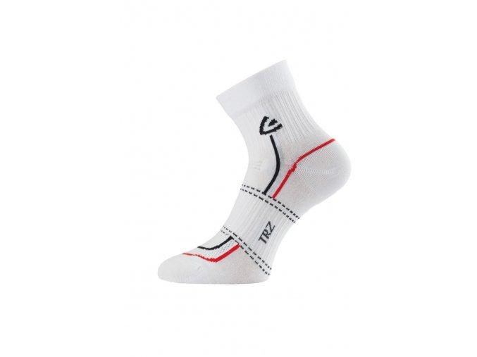 Lasting TRZ 001 ponožky pro aktivní sport bílá  ponožky