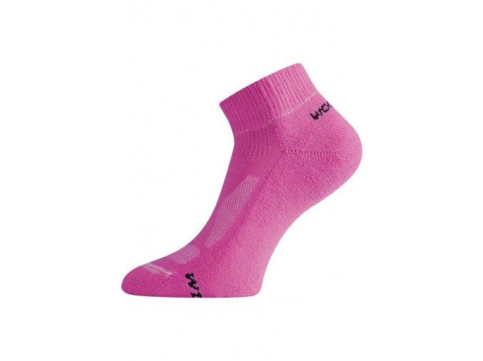 Lasting WDL 409 růžová merino ponožky  ponožky