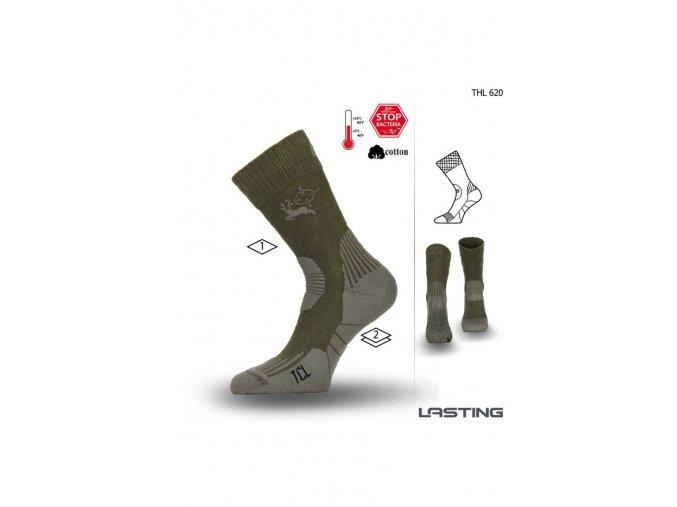 Lasting Ponožky THL 620 zelená  ponožky