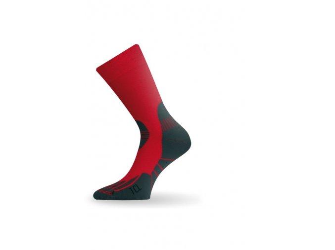 Lasting TCL 308 červená trekingová ponožka  ponožky