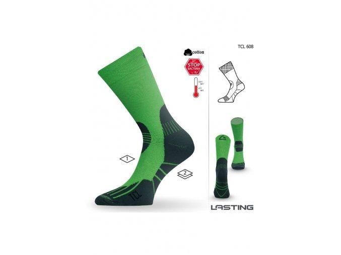 Lasting TCL 608 zelená trekingová ponožka  ponožky