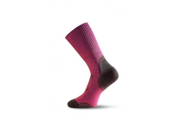 Lasting TKA 306 růžová vlněné zimní ponožky  ponožky