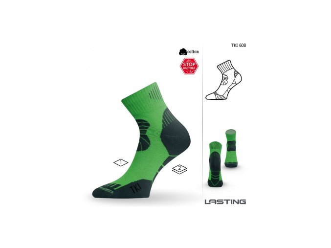 Lasting TKI 608 zelená trekingová ponožka  ponožky