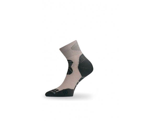 Lasting TKI 707 béžová trekingová ponožka  ponožky
